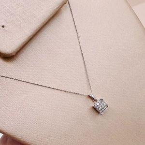 EUC 14k White Gold Diamond Pendant